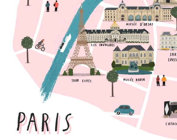 Paris map detail