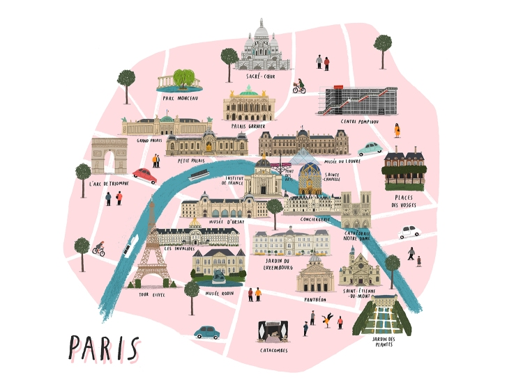 Paris map lores
